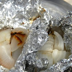 玉ねぎのホイル焼き